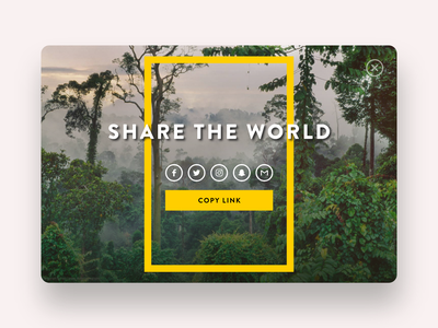 Daily UI #10: Social Share (National Geographic) daily ui 10 ui design daily ui daily ui challenge dailyui10 national geographic social share ui