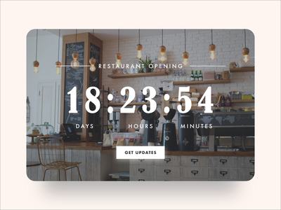 Daily UI #14: Countdown Timer (Restaurant Opening) restaurant dailyui14 daily ui 14 countdown countdown timer ui ui design daily ui daily ui challenge