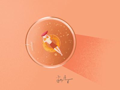 chai tea typography illustraion logo design branding affinitydesigner minimal vector illustrator procreate illustration graphicdesign