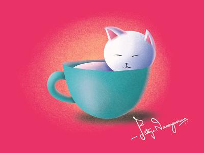 Cat-astrophic cute character cats cat typography design branding affinitydesigner vector minimal illustrator procreate illustration graphicdesign