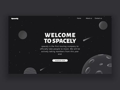 spacely webstie ui ux space web design webdesign illustraion logo design branding affinitydesigner vector minimal illustrator procreate illustration graphicdesign