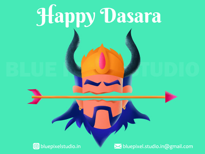 Happy dasara graphic design clean india flat character characterdesign illustration graphicdesign
