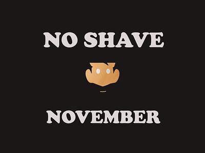 Minimal No shave November poster branding affinitydesigner vector illustration procreate minimal illustraion graphicdesign illustrator