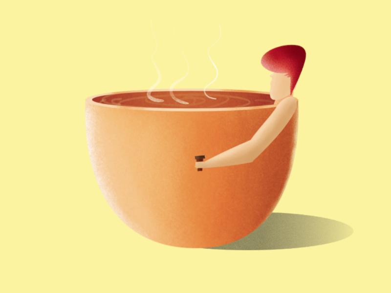 Coffee graphicdesign icon graphic design digitalarts ux website typography logo branding design ui affinitydesigner vector illustrator procreate illustration