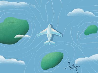 plane water ocean earth plane vector illustraion logo design branding affinitydesigner minimal illustrator procreate illustration graphicdesign