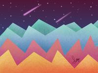 Mountain Abstract wallpaper