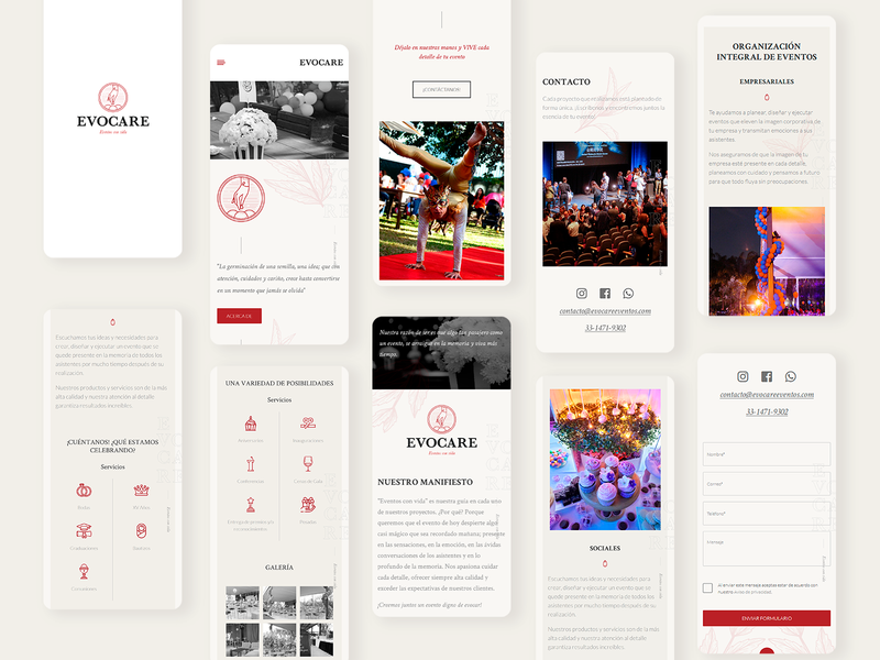 Evocare - Mobile Design ux ui web design onepage webdesign website web design mobile design