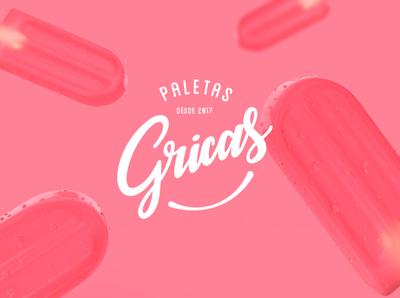 Gricas - Me hacen feliz render logodesign logotype logo icepops packaging ice popsicle brand design branding brand