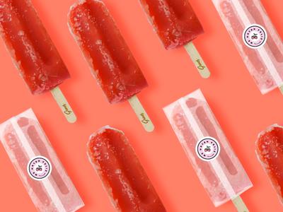 Gricas - Me hacen feliz dessert yummy ice popsicle packaging brand design brand design branding logo