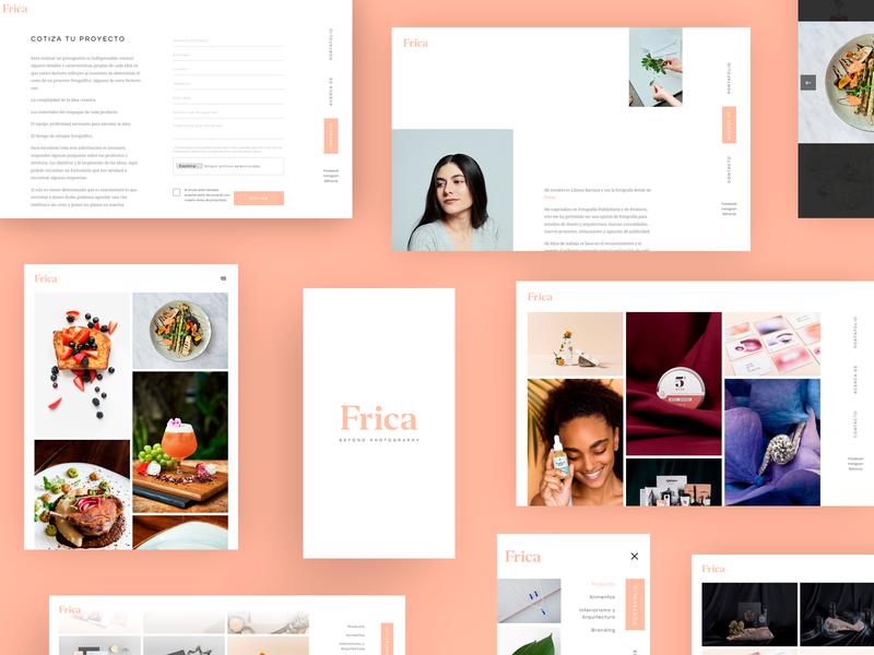 Frica Portafolio Web portfolio site photographer photography website minimal clean developer web design