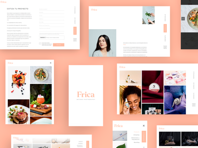 Frica Portafolio Web portfolio site photographer photography website minimal clean developer web design
