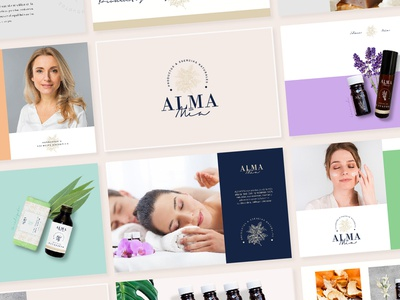 Alma Mía - Branding minimal branding care illustration clean beauty naturaleza nature logodesign logotype logo design