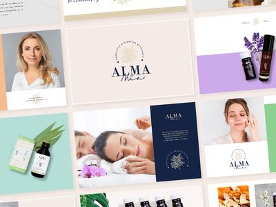 Alma Mía - Branding minimal branding care illustration clean beauty naturaleza nature logodesign logotype logo design