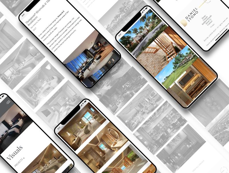 Website Daniel Lyono- Visual rendering architecture movildesign movil web design website web developer design