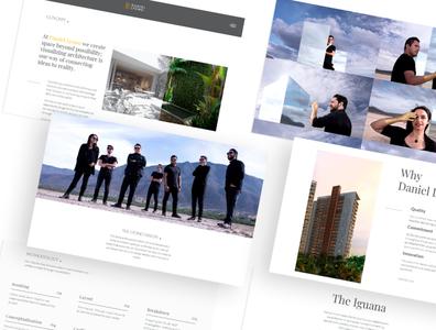 Website Daniel Lyono - About web website webdesign rendering developer design architecture