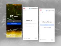 Adobe - Create an account mobile product design speech onboarding ux create account signup mobile ui