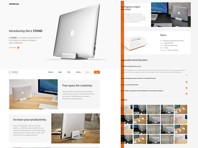 Macbook Air Stand design website macbookair grid typography apple clean stand type ui