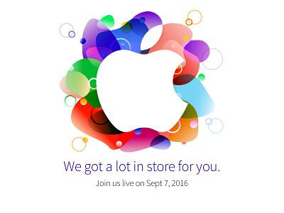 Apple Event Sept 2016 (unofficial) colors logo 2016 keynote invite apple design