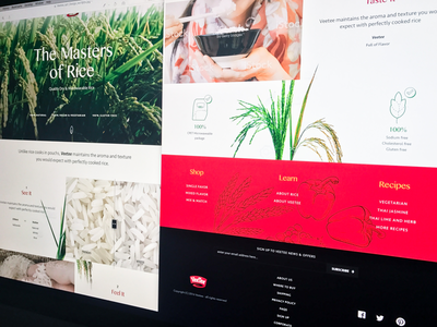 Rice supplier site plant full-width minimal typography grid layout ui ux products landing page web website