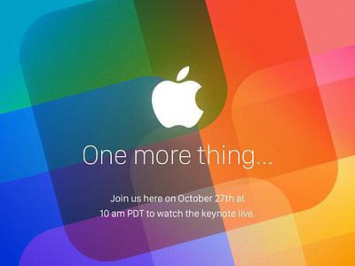 Oct 27th (unofficial Invite) invitation invite vibrant logo harware macbook macs keynote apple design