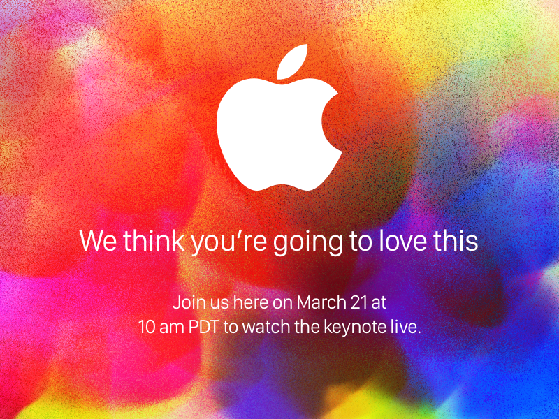 Apple March Invite(unofficial) pro canvas paint colors creative ipad march keynote apple