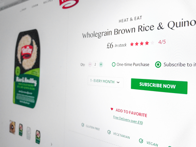Product Page ui ux rice package product typography minimal clean site web design ecommerce