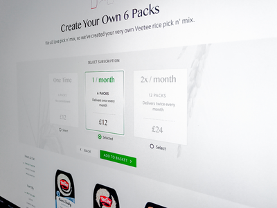 Subscription Flow website layout ux ui product web site typography type ecommerce subscription design