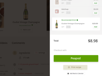 Checkout Sidebar videos food recipe clean minimal ux ui store checkout commerce ecommerce