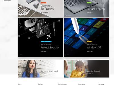 Microsoft's site redesign exploration site ui photo minimal interface uiux clean typography windows microsoft web