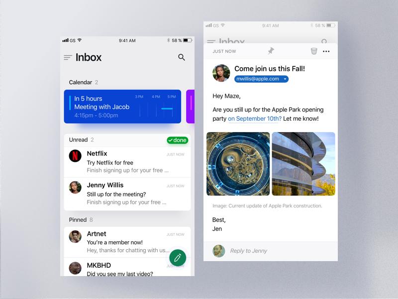 Maven - iOS Mail App by Housseynou Fall on Dribbble