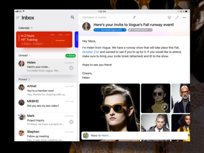 Maven - iOS (ipad) ux ui type mail iphone ios icon email clean card apple app