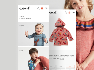 Clothing - Mobile mobile website ux ui typography shopping shop layout ecommerce clean minimal cart