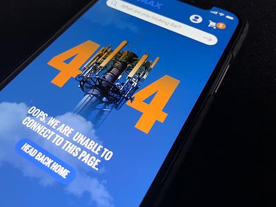 404 error landing 404 ux ui clean typography website web app ios design