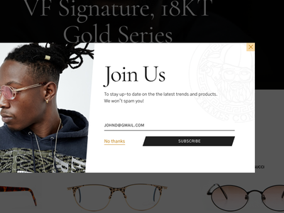 Join Us signup email website popup newsletter ecommerce typography