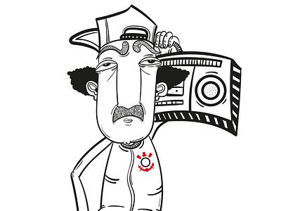 GERENA vector pattern gerena wacom monocromatic illustrator illustration draw digitaldraw design character art characer