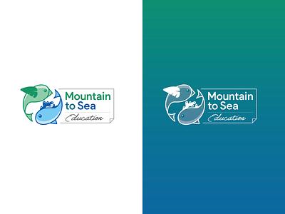 Mountain to Sea logo typography illustration logo