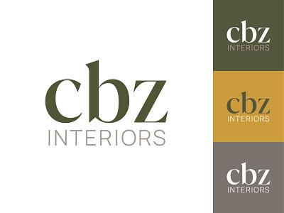 cbz interiors color palette typography branding logo
