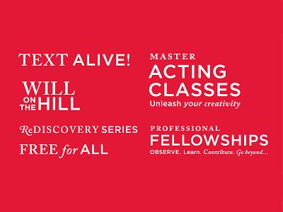 Shakespeare Theatre Company Sub-brand Marks visualsystem theater design theater branding wordmark typogaphy