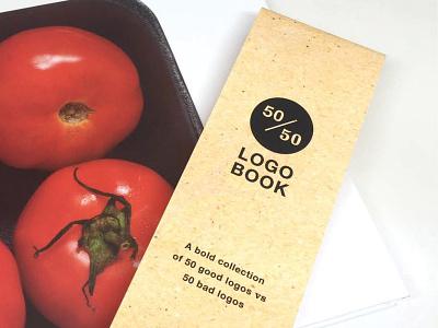 50/50 Logo Book photography visualsystem logo layout typography book