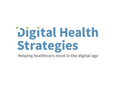 Digital Health Strategies typography branding wordmark logo