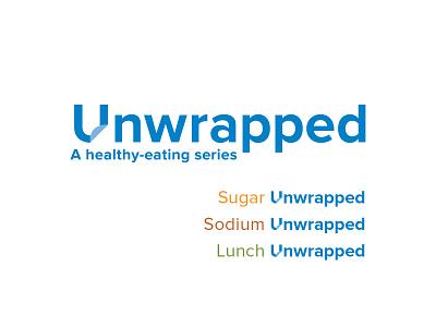 Unwrapped wordmark branding logo typography