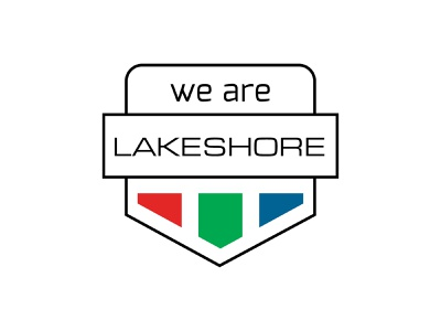 We Are Lakeshore Badge & Typography branding typography wordmark logo