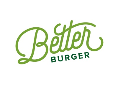 Better Burger layout poster illustration icons typography wordmark