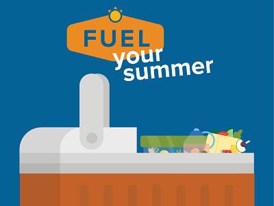 Fuel Your Summer Road Trip gif animatedgif animation illustration
