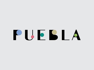 Puebla type circles state puebla logo