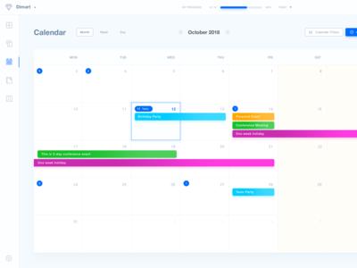 Project Management Application Events Calendar