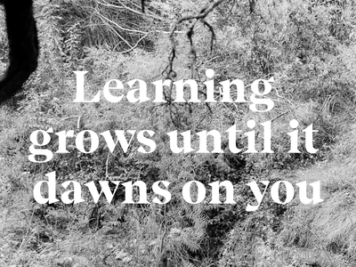 Learning Grows typography feldenkrais quotes words