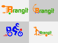 Grocery service delivery logo