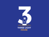 Tree light house logo