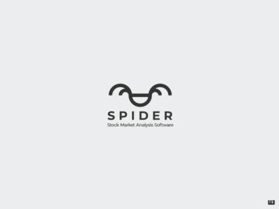 Spider logomark logodesign icon symbol analysis software house wall street stock market stocks stockmarket software branding typography logo design logo vector design